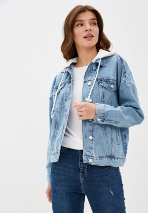 Куртка джинсовая DeFacto. Цвет: голубой