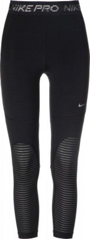 Бриджи женские , размер 42-44 Nike. Цвет: черный