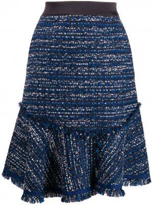 Твидовая юбка Karl Lagerfeld. Цвет: синий
