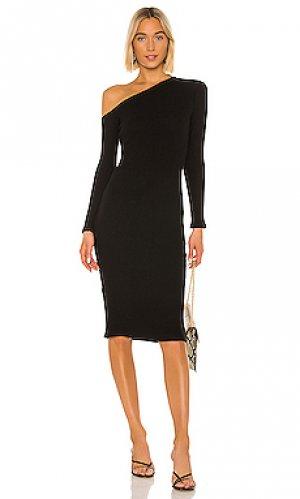 Платье миди Enza Costa. Цвет: черный