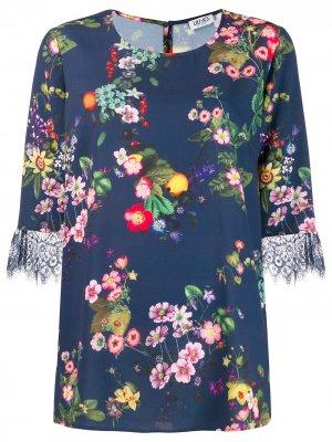 Блузка с цветочным принтом LIU JO. Цвет: синий
