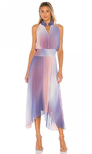 Платье миди 1. STATE. Цвет: фиолетовый