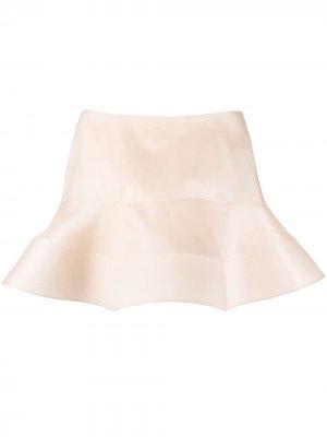 Расклешенный топ с открытыми плечами Nina Ricci. Цвет: нейтральные цвета