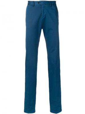 Классические однотонные брюки чинос Paul & Shark. Цвет: синий
