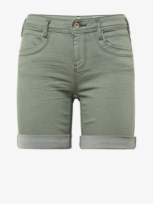 Джинсовые шорты/бермуды TOM TAILOR. Цвет: зеленый