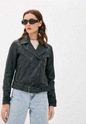 Куртка кожаная Pepe Jeans AMELIA. Цвет: черный