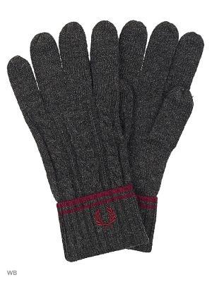 Перчатки Fred Perry. Цвет: серый
