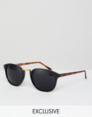 Круглые солнцезащитные очки inspired эксклюзивно для ASOS-Черный Reclaimed Vintage