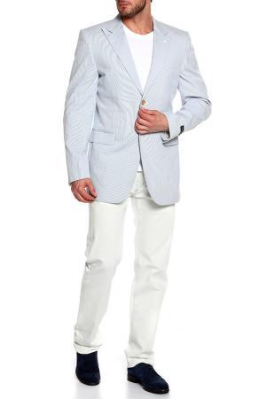 Пиджак Givenchy. Цвет: белый, голубой, полоска