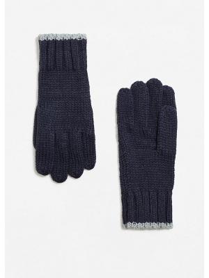 Перчатки - BERTO1 MANGO MAN. Цвет: темно-синий