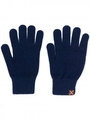 Перчатки с нашивкой-логотипом PS Paul Smith. Цвет: синий