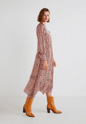 Платье Mango SERPI. Цвет: бежевый
