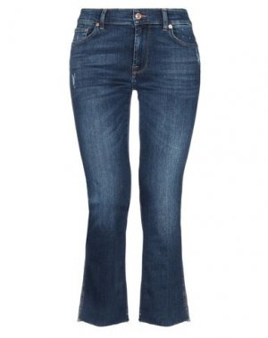 Джинсовые брюки-капри 7 FOR ALL MANKIND. Цвет: синий