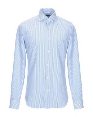 Pубашка GHERARDINI. Цвет: лазурный