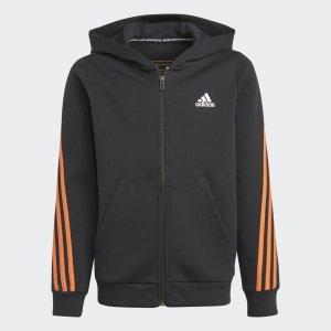 Толстовка 3-Stripes Sportswear adidas. Цвет: черный