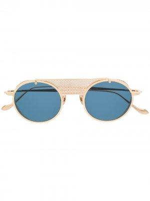 Солнцезащитные очки с перфорацией Matsuda. Цвет: золотистый