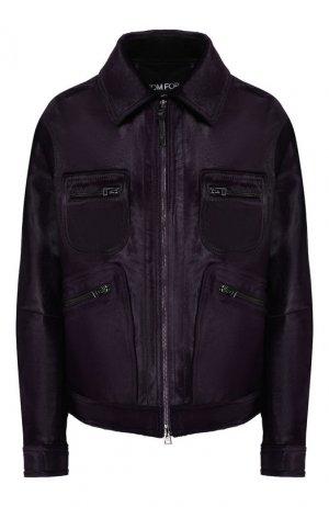 Кожаная куртка Tom Ford. Цвет: фиолетовый