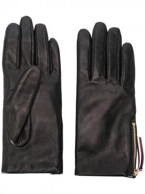 Перчатки с молниями по бокам Tommy Hilfiger. Цвет: черный