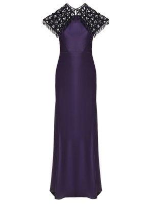 Вечернее платье в пол CATHERINE DEANE. Цвет: фиолетовый