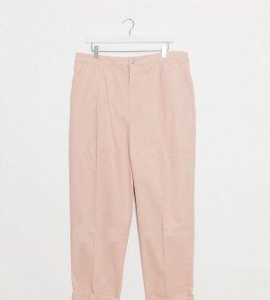 Розовые брюки чиносы ASOS DESIGN Curve-Розовый Curve