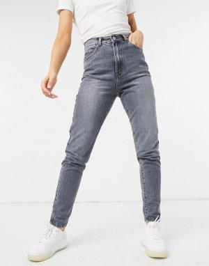 Серые выбеленные джинсы скинни Nora-Серый Dr Denim