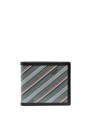 Полосатый бумажник Thom Browne. Цвет: серый