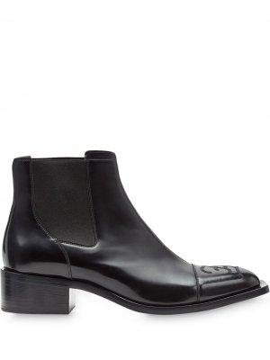 Ботинки челси с квадратным носком Fendi. Цвет: черный