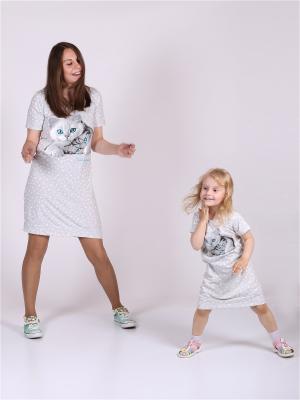 Туника для дочки Flip. Цвет: серый