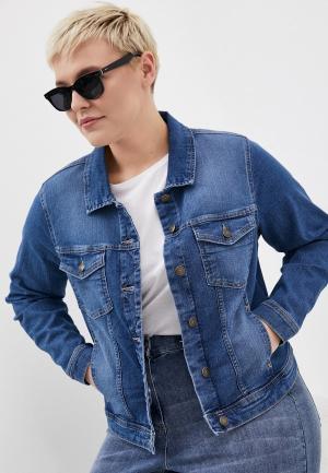 Куртка джинсовая Only Carmakoma. Цвет: синий