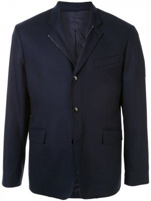Однобортный пиджак Kent & Curwen. Цвет: синий