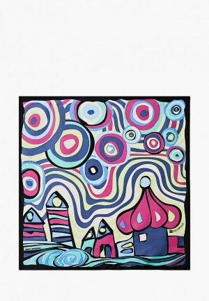 Платок Freywille Hommage a Hundertwasser. Цвет: разноцветный
