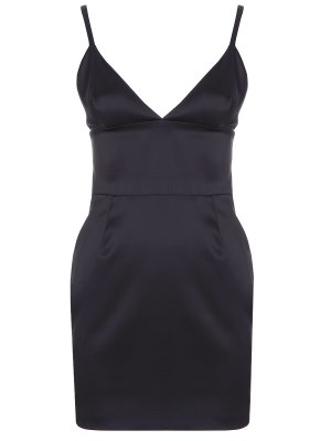 Платье атласное TEREKHOV. Цвет: черный