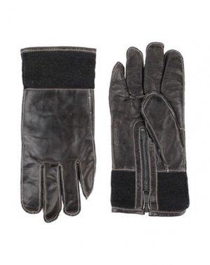 Перчатки 10SEI0OTTO. Цвет: свинцово-серый