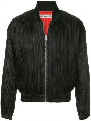 Двухсторонняя куртка-бомбер Issey Miyake Vintage. Цвет: черный