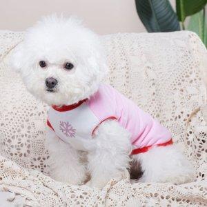 Майка для домашних животных с мультипликационным узором SHEIN. Цвет: розовые