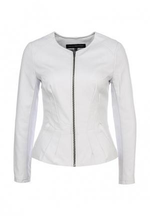 Куртка кожаная French Connection. Цвет: белый