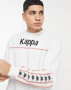 Белый свитшот с отделкой фирменной лентой Banda Denai Kappa