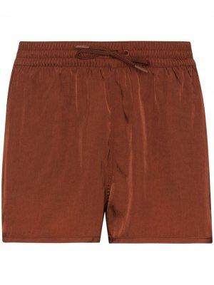 Плавки-шорты Econyl с кулиской CDLP. Цвет: коричневый