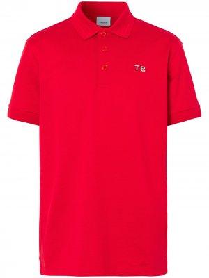 Рубашка поло с логотипом Burberry. Цвет: красный