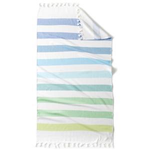 Полотенце пляжное Fouta на подкладке из махровой ткани JOLLY LA REDOUTE INTERIEURS. Цвет: белый/ розовый/ синий,белый/ синий/ зеленый,белый/бирюзовый