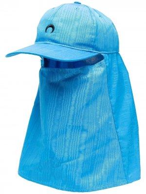 Кепка со вставкой-маской Marine Serre. Цвет: синий