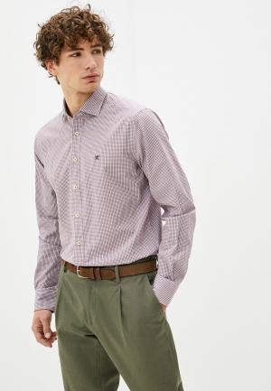 Рубашка Hackett London. Цвет: бордовый
