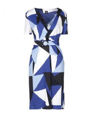Платье до колена 1-ONE. Цвет: синий