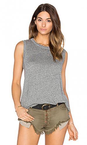 Майка с круглым вырезом the sleeveless Great. Цвет: серый