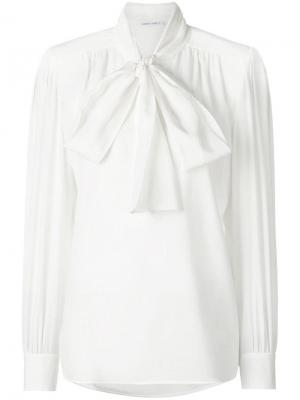 Блузка с воротником завязкой Alberta Ferretti. Цвет: белый