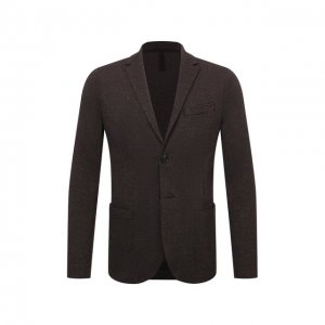 Пиджак из шерсти и хлопка Harris Wharf London. Цвет: коричневый
