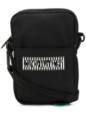 Сумка на плечо с логотипом Off-White. Цвет: черный