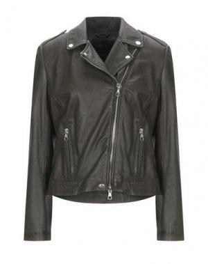 Куртка SET. Цвет: зеленый-милитари