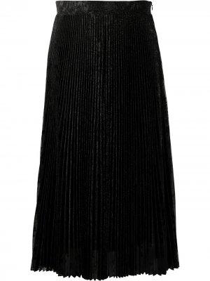 Плиссированная юбка миди Blumarine. Цвет: черный