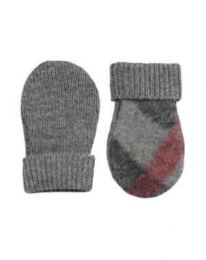 Перчатки BURBERRY CHILDREN. Цвет: серый